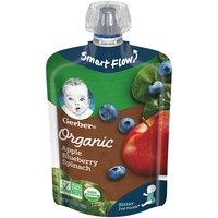 Gerber Gerber 2nd Foods Organic Pouch - Apple Blueberry Spinach, 3.5 Ounce