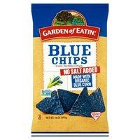 Garden of Eatin' Unsalted Blue Chips, 16 Ounce