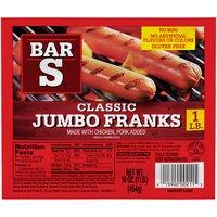 Bar-S Franks - Jumbo, 16 Ounce
