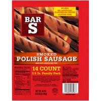 Bar-S Smoked Polish Sausage - 14 Count, 40 Ounce