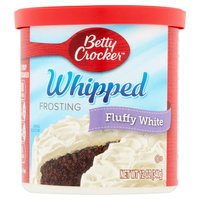 Betty Crocker Whipped Fluffy White Frosting, 12 Ounce