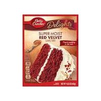 Betty Crocker Delights Super Moist Red Velvet Cake Mix, 15.25 Ounce