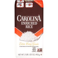 Carolina Rice - Enriched Extra Long Grain, 2 Pound