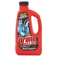 Use Drano Max Gel to unclog your drain with a maximum strength gel formula.