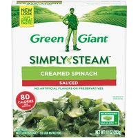 Green Giant Steamers Creamed Spinach, 10 Ounce