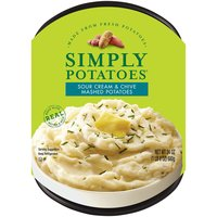 Simply Potatoes Mashed Potatoes - Sour Cream & Chive, 24 Ounce