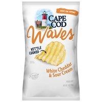Cape Cod Potato Chips Cape Cod Potato Chips Waves White Cheddar & Sour Cream, 7 Ounce