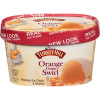 Turkey Hill Orange Cream Swirl Ice Cream, 48 Ounce
