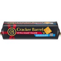Cracker Barrel Natural reduced fat extra sharp cheddar cheese made with 2% milk. Big Flavor with traditional aged cheddar texture.
