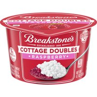 2% Milkfat lowfat cottage cheese & raspberry topping. Real California Milk. 9 grams of protein.