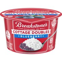 2% Milkfat lowfat cottage cheese and blueberry topping. Real California milk. 9 grams of protein.