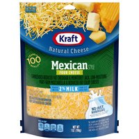 Kraft Cheese - Mexican Style Four Cheese, 7 Ounce