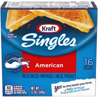 Kraft Cheese - Pasteurized Prepared American Singles, 12 Ounce