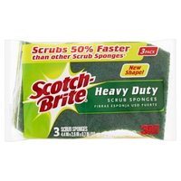 Scotch-Brite Heavy Duty Scrub Sponges, 3 Each