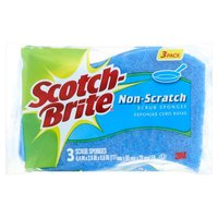 Scotch-Brite Multi-Purpose No Scratch Scrub Sponges, 3 Each