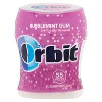 With Orbit Sugarfree Gum, there's no need to second-guess; you have the confidence to show the world what you're made of. The delicious Bubblemint flavor gives you a clean and fresh mouth feeling.