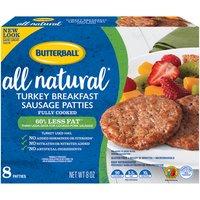 Butterball Turkey Patties, 8 Ounce