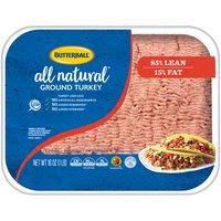 Butterball Ground Turkey - 85% Lean, 1 Pound