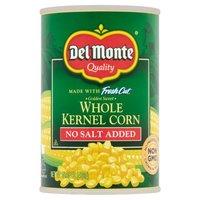 Del Monte Corn - Whole Kernel Golden Sweet No Salt Added, 15.25 Ounce