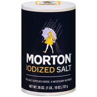 Morton Salt - Iodized, 26 Ounce