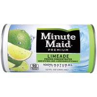 Made with the goodness of real limes, Minute Maid Limeade has a refreshing taste that strikes the perfect balance between sweet and tart, putting your taste buds in perfect harmony. Frozen Concentrate