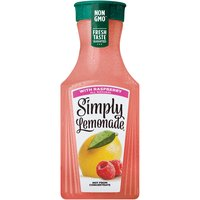 Lemonade has never looked so delicious! Simply Lemonade with Raspberry combines the refreshing taste of Simply Lemonade with sweet raspberries, resulting in delicious and all natural refreshment.