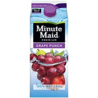 Made with real fruit juice, Minute Maid Grape Punch has a perfectly bright and delicious taste that satisfies your need for refreshment, leaving you pleased as punch.