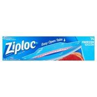 Ziploc Freezer Bags, Gallon, 14 Each