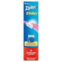Ziploc Slider Storage Bags Gallon, 15 Each