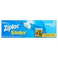 The slider closure makes these bags easy to open and close!