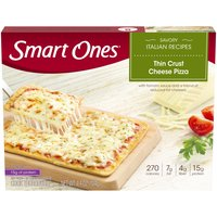 A blend of reduced fat cheeses with a tangy tomato sauce on a crispy-thin crust. 7 points.