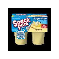 Snack Pack Pudding Sugar Free Vanilla, 13 Ounce