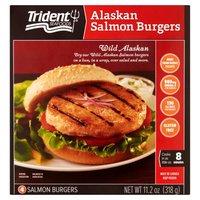 Frozen wild caught Alaskan salmon burgers