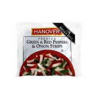Hanover Green & Red Peppers & Onion Strips, 14 Ounce