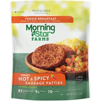 MorningStar Farms Breakfast Hot and Spicy Sausage Patties, 8 Ounce