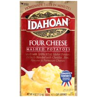 Made with 100% Idaho Potatoes, perfect blend of Cheddar, Bleu, Romano, & Parmesan Cheeses, ready in 4 minutes