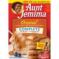 Aunt Jemima Pancake & Waffle Mix - Original - Complete, 32 Ounce