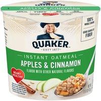 Quaker Instant Oatmeal Cup - Apples & Cinnamon, 1.51 Ounce