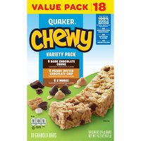 Quaker Chewy Granola Bars contain 8 grams of whole grain and have no high-fructose corn syrup, making these granola bars a tasty treat.