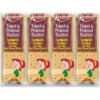 Keebler Toast & Peanut Butter Sandwich Crackers - 8 Pack, 11 Ounce