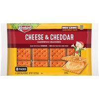 Keebler Cheese & Cheddar Sandwich Crackers - 8 Pack, 11 Ounce