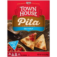 Keebler Sea Salt Pita Oven Baked Crackers, 9.5 Ounce
