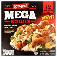 Banquet Mega Bowls Chicken Fried Beef Steak, 14 Ounce