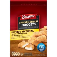 Breaded chicken breast nugget patties with rib meat. Made with 100% white meat chicken. No preservatives! (30 oz)