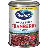 Ocean Spray Whole Berry Cranberry Sauce, 14 Ounce