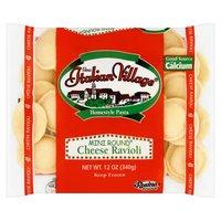 Italian Village Cheese Ravioli Mini Round, 12 Ounce