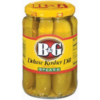 B&G Deluxe Kosher Dill Spears with Whole Spices, 24 Ounce