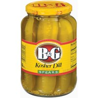 B&G B&G Kosher Dill Spears Pickles with Whole Spices, 32 Fluid ounce