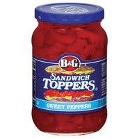 B&G B&G Sandwich Toppers Sweet Peppers, 16 Fluid ounce
