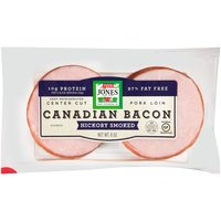Jones Dairy Farm Canadian Bacon Hickory Smoked - 10 Pack, 8 Ounce